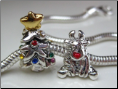 Christmas Tree & Reindeer 2 pc set European Bead