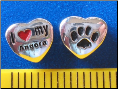 Bead   I love my Angora Cat w/paw    Sterling Silver