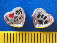 Bead   I love my Corgi Dog w/paw    Sterling Silver