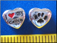 Bead   I love my Calico Cat w/paw    Sterling Silver