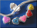Hearts Stopper Alloy Bead