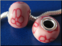 Simply Red Daisy CLAY Bead