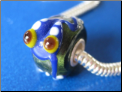 Blue Frog Glass Bead
