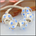 Minnie Mouse Blue Dots Glass Bead