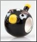 Bird Black European Bead