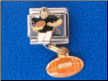 Football Player with Dangle Football - Blk