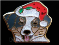 Aussie Dog in Santa Hat Floating Locket Charm