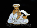 Beagle Angel Dog Floating Locket Charm