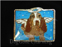 Bassett Angel Dog SQ Floating Locket Charm