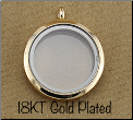 Gold Plated Rnd Magnetic Locket