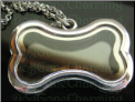 Dog Bone Locket Flip Open