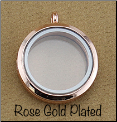 Rose Gold Plated Rnd Magnetic Locket