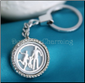 Family of Three Locket Key Chain Removable Plate
