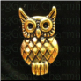 Owl Gold tone Floating Locket Charm