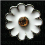 White Daisy Stone Center  Floating Locket charm