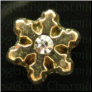 GT Snowflake Stone Center  Floating Locket charm