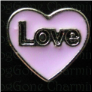 Love Purple Heart  Floating Locket charm