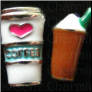 Coffee & Frapuccino Set of Two   Alloy  Floating Locket charm