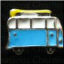 Blue Van With Surfboard Floating Locket charm