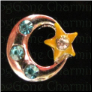 Moon & Stars BL stones Floating Locket charm