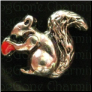 Squirrel Acorn  Silver TN  Floating Locket charm