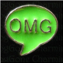 OMG Speech Bubble Green  Floating Locket charm