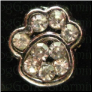 Dog Paw Stones Alloy Floating Locket charm