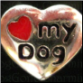 I love my Dog Alloy Floating Locket charm