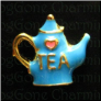 Tea Pot BL I love TEA Floating Locket charm