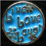 Live Love Laugh Blue Floating Locket charm