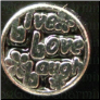 Live Love Laugh Black Floating Locket charm