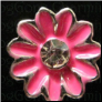 Pink Flower  Floating Locket charm