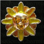 Yellow Orange Flower  Floating Locket charm