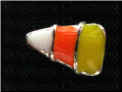 Candy Corn Halloween Alloy  Floating Locket charm