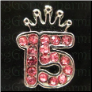 Birthday 15 Crown  Alloy  Floating Locket charm