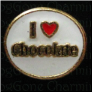 I love Chocolate Circle Alloy  Floating Locket charm