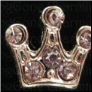 Pink Crown Princess Alloy  Floating Locket charm
