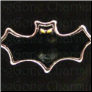 Bat Glowing Eyes Halloween    Alloy  Floating Locket charm