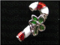 Candy Cane with Holly Bow  Holiday    Alloy  Floating Locket charm