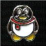 Penguin Scarf  Holiday    Alloy  Floating Locket charm