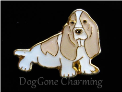 Basset Dog Blonde sitting Floating Locket Charm