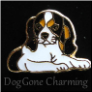 Tri Color Cavalier Dog Laying Floating Locket Charm