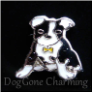 Boston Terrier Dog Yellow Tag Floating Locket Charm