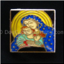 Blessed Mother Mary & Jesus No Gltr Floating Locket Charm