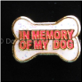 In Memory of My Dog Red Floating Locket Charm