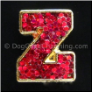 Red Glitter Letters A-Z Floating Locket Charm