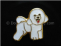 Bichon Dog Standing  Floating Locket Charm