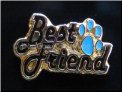 Best Friend Blue Paw Floating Locket Charm