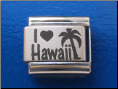I love Hawaii Laser Italian charm