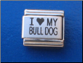 I love my Bull dog Laser Italian charm